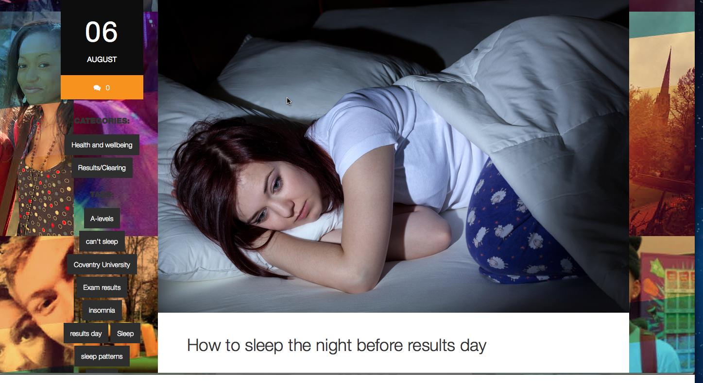 COV STUDENT TIPS TO SLEEP